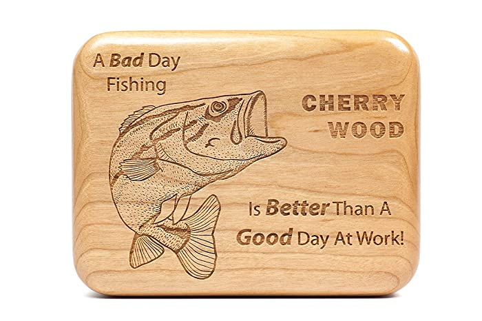 hardwood fly fishing box fly box personalized fishing lure box gift for birthday