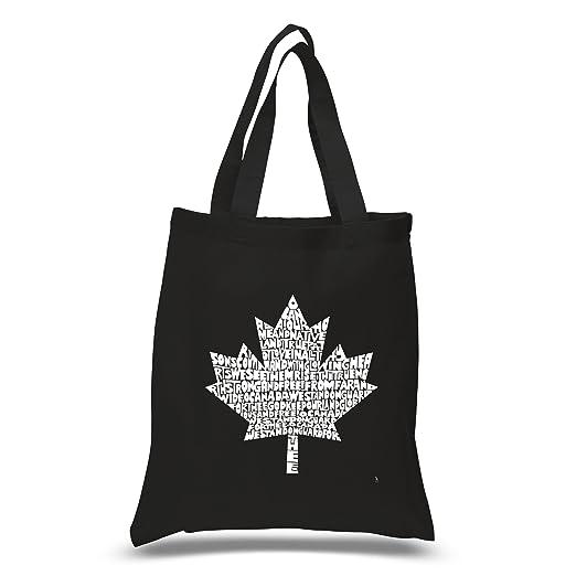 3bb464534002 Amazon.com: LA POP ART Word Art S Tote Bag - Lyrics To Canadian National  Anthem Word Art Black: Clothing