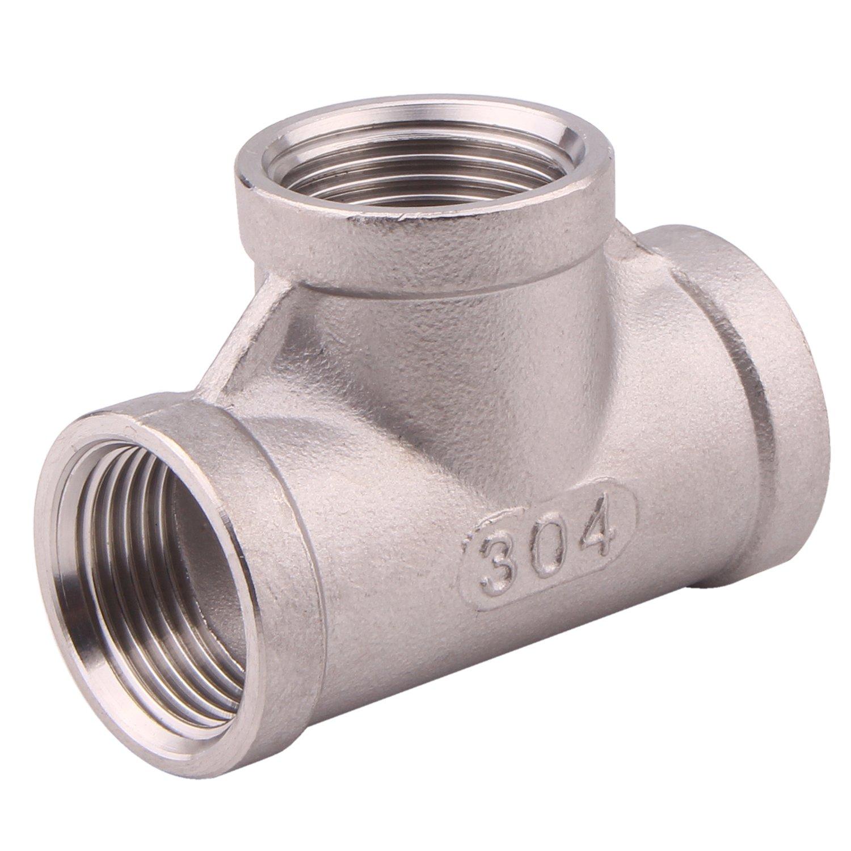 Horiznext npt 1//2 tee Threaded Stainless Steel Pipe Fittings