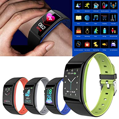 Amazon.com: iSovze Sports Fitness Tracker Heart Rate Blood ...
