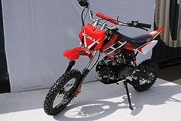Scream Pit Bike 125cc Dirt Devil Red With Kick Start Amazon Co