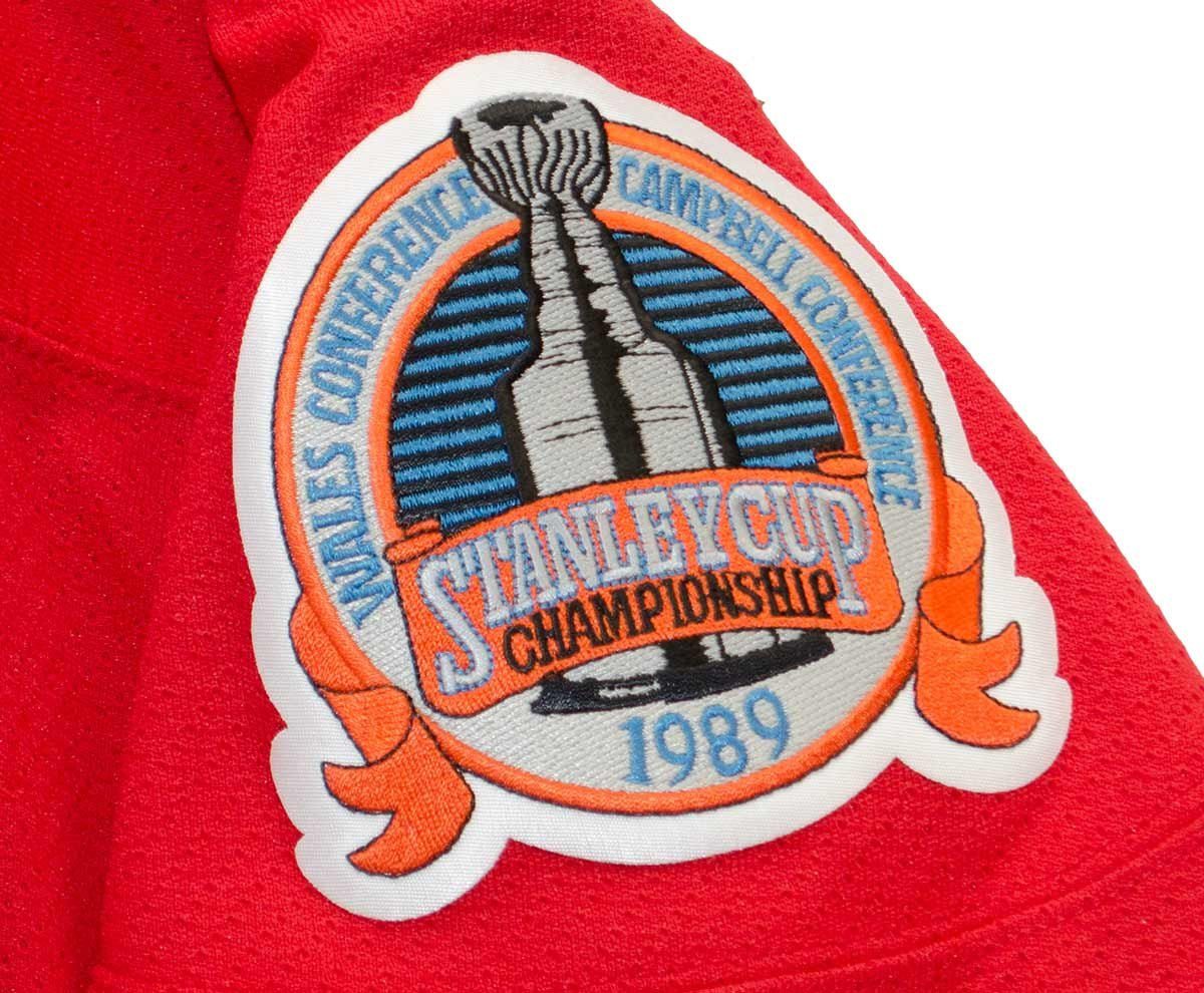 low priced c329b 00526 Calgary Flames 1989 Red Vintage CCM Jersey with Stanley Cup ...