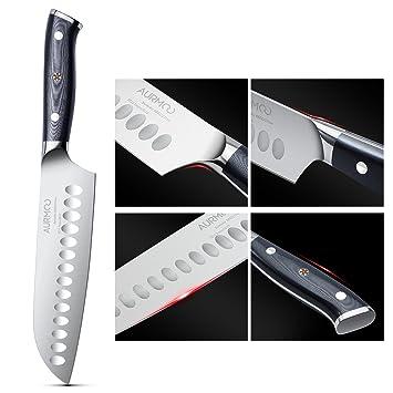 Aurmoo Santoku Messer Kuchenmesser 7 5 Inch Japanisches Kochmesser