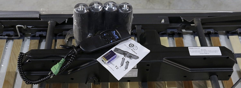 CAMA articulada con MOTOR ELECTRICO 135x190cm + SOMIER multilaminas con patas. 5 PLANOS ARTICULACIÓN, TUBO REFORZADO ACERO 50x20MM + MANDO: Amazon.es: Hogar