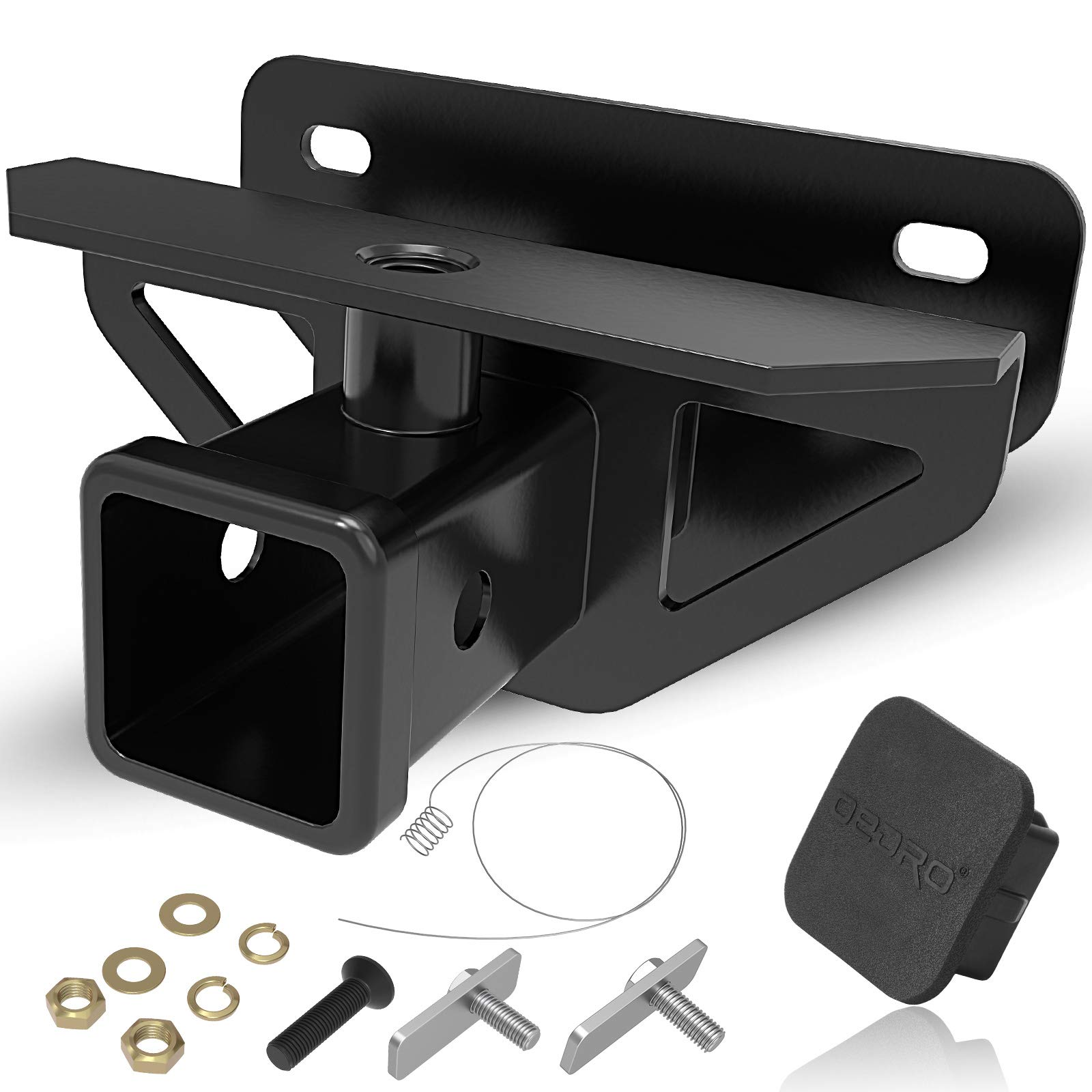 OEDRO 2'' Rear Trailer Hitch Receiver Class 3 Tow Towing Hitch & Cover Kit, Compatible for 2003-2018 Dodge Ram 1500 & 2003-2013 Ram 2500 3500, Tow Combo (Hitch Cover included) by oEdRo