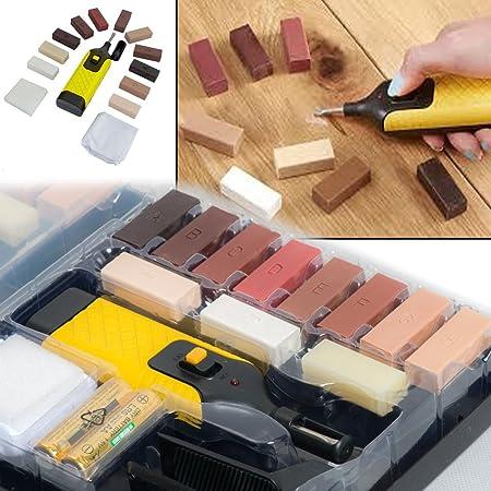 19pc Laminate Floor Worktop Furniture Repair Kit Wax System For