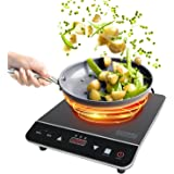 Cosmo 1800-Watt Portable Induction Cooktop Countertop Burner, COS-YLIC1
