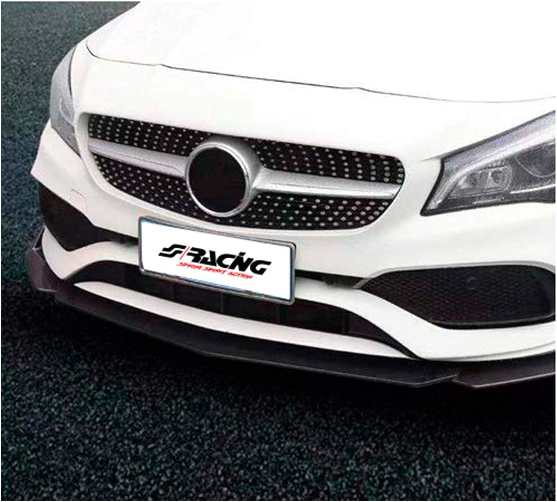 3-Pieces-ABS Black SIMONI RACING UB//BK Universal Front Spoiler Lip Splitter Carbon-Look Wings