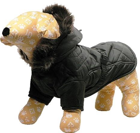 Angelpet - Abrigo tipo plumas para perro, de color marrón y con adorno de hueso