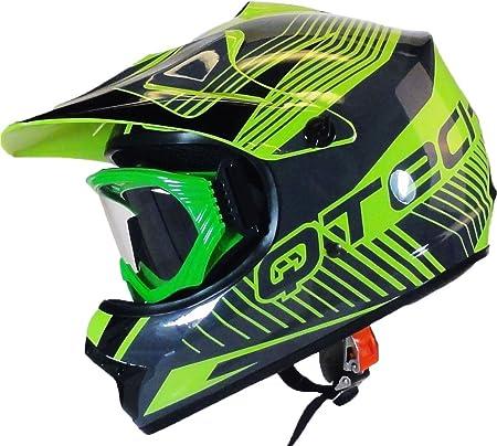 Zorax Vert Lunettes Enfants Motocross Lunettes Casques Lunettes Sport Gafas pour Moto Lunettes Protection de Visage pour Ext/érieur Activit/é Moto//Cross//VTT//Ski Motocyclette