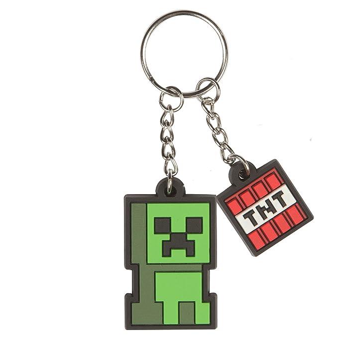 Amazon.com: Jinx Minecraft Creeper Sprite llavero (verde ...