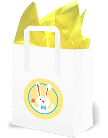 f2c34d9ffa Olivia Samuel Easter Egg Hunt Party Bags with Yellow Tissue (Pack of 10)