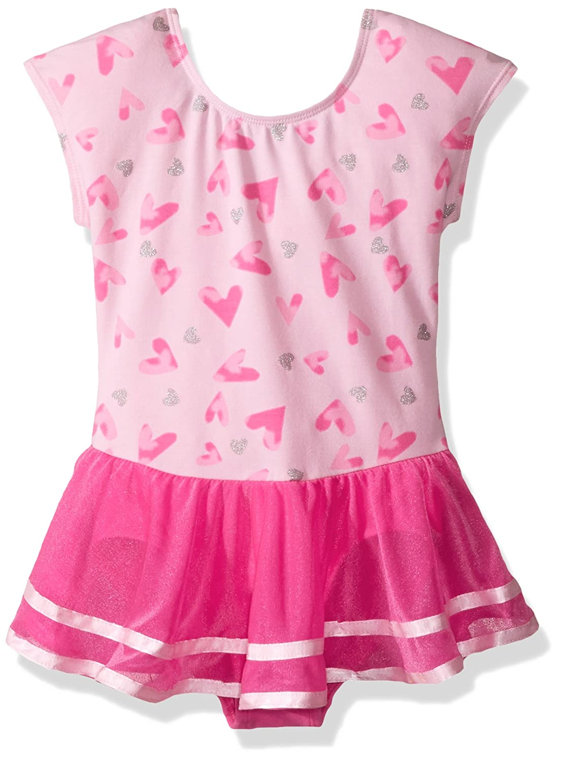 Jacques Moret Girls '拡張スリーブレオタードwith Attached 5層チュチュ B06VVX998H Multi Piink 5