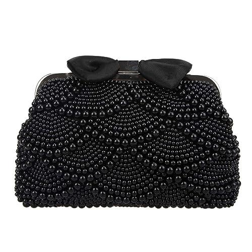 Bonjanvye UK18139 - Cartera de mano de Sintético para mujer S, color Negro, talla S: Amazon.es: Zapatos y complementos