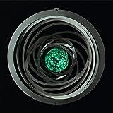 Mobile en acier inoxydable - Glow 200 - Dimensions: 20 x 20 cm - avec suspension et bille de verre fluorescente.