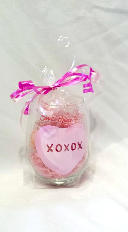 Amazon.com: Valentine\'s Day Conversation Hearts (Set of 4) Hand ...