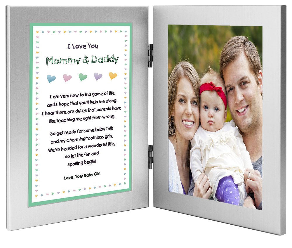Amazon.com : New Parents Frame and Poem From Baby Girl - Mommy and ...