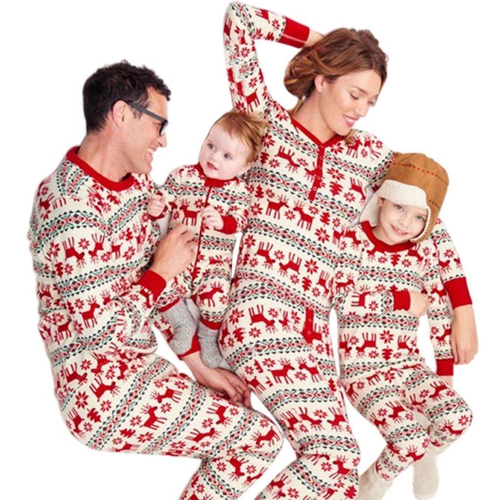 e3929566f8a4b Ensemble Pyjama Noel Famille Père Noël Mère Garçon Fille du Nouveau-né Bébé  Pyjamas à Deux ...