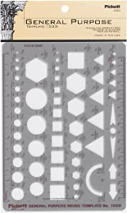 Pickett General Purpose Template, Circles, Squares, Hexagons and Triangles (1033I)