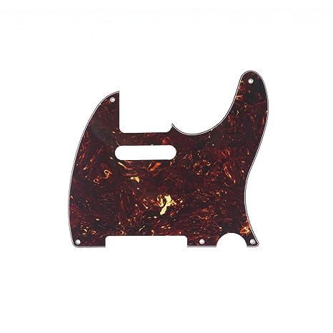 Musiclily 5 Agujeros Vintage Tele Pickguard Golpeador para Guitarra Eléctrica Fender American/México Standard Telecaster