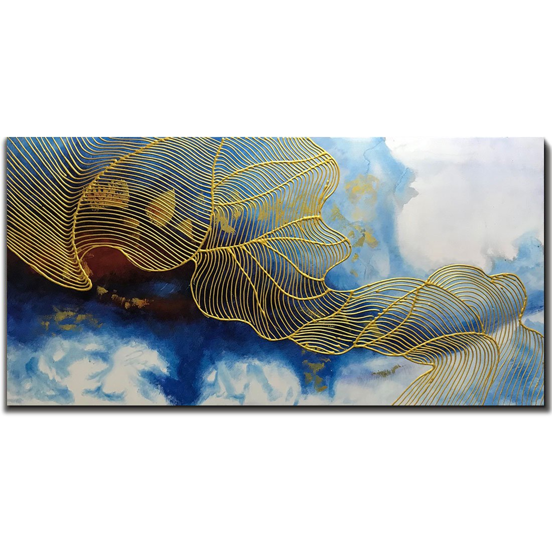 Yotree Paintings, 24x48 Inch Paintings Oil Hand Painting Painting 3D Hand-Painted On Canvas Abstract Artwork Art Wood Inside Framed Hanging Wall Decoration Abstract Painting