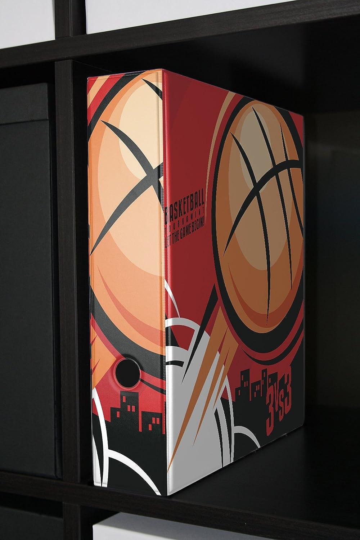 Archivador A4 Carpeta 2 anillas 60mm impreso Baloncesto: Amazon.es ...