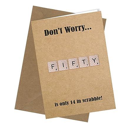 Scrabble Tarjeta de felicitación de 40 cumpleaños 50 años 60 ...