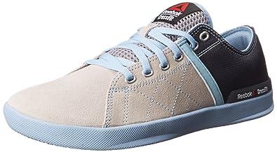 Reebok Women's RCF Lite Lo TR Poly Training Shoe, Steel/Graphite/Denim Glow
