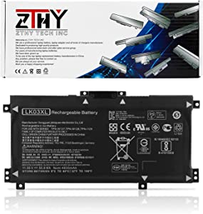 ZTHY LK03XL Battery Replacement for HP Envy 17 17-AE143NG 17M-AE0XX 17T-AE100 CTO 2RX66AV Envy X360 15-BP000 15-BP107TX 15M-BP000 15M-BP012DX 15-BP100TX 916368-541 916814-855 TPN-W127 11.55V 55.8Wh