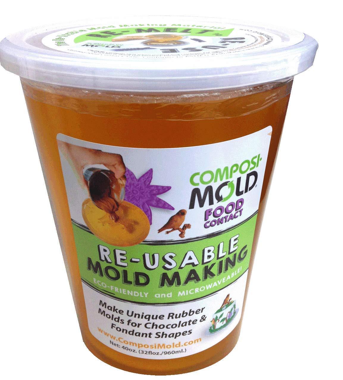 ComposiMold FC40 Reusable Molding Material, Food Molds, 40-Ounce