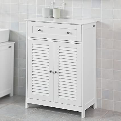 Haotian Bathroom Vanity SetWhite Bathroom Storage Cabinet with Drawer and Double Shutter Door (FRG238- & Haotian Bathroom Vanity SetWhite Bathroom Storage Cabinet with ...