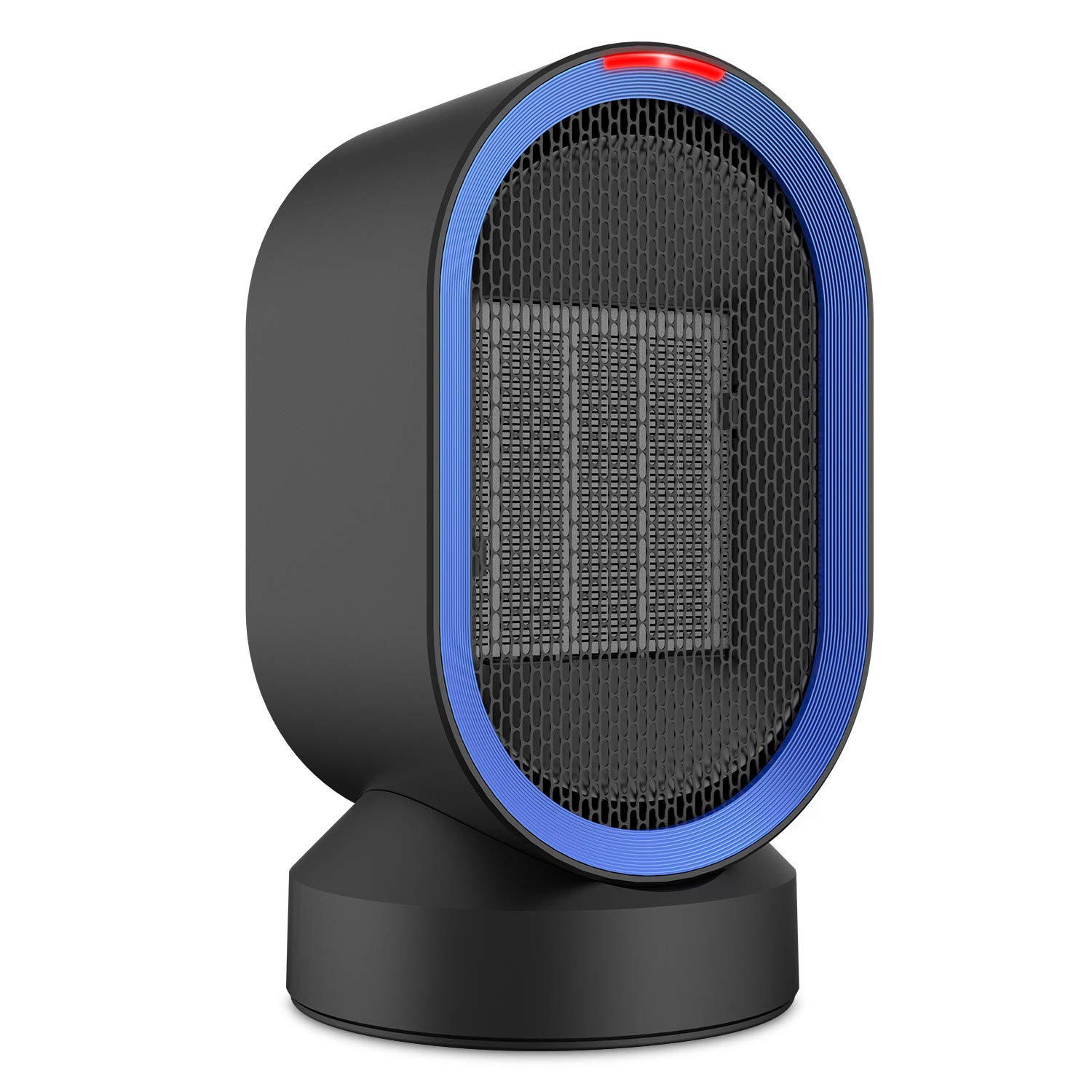 Fitfirst Ceramic Space Heater, ETL Listed Portable Mini Desktop Heater Indoor Use, 2s Quick Heat-up, Ultra Quite, Auto-Oscillation for Office Table Home Dorm (600W) by Fitfirst