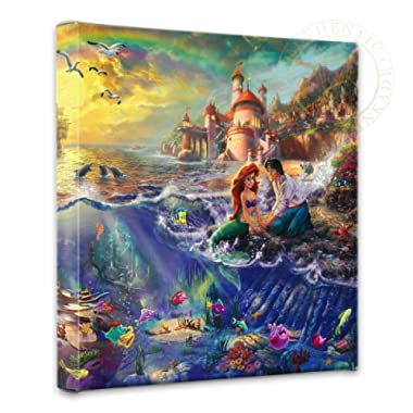 Thomas Kinkade Little Mermaid Gallery Wrap Canvas