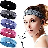 Headbands for Men and Women Mens Sweatband & Sports Headband Moisture Wicking Workout Sweatbands for Running, Cross…