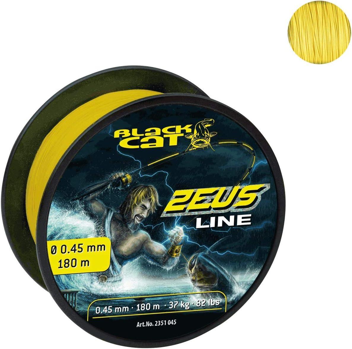 Black Cat Zeus Line Color Amarillo 450 m, 59 kg, 0,60 mm de di/ámetro Hilo de Pescar