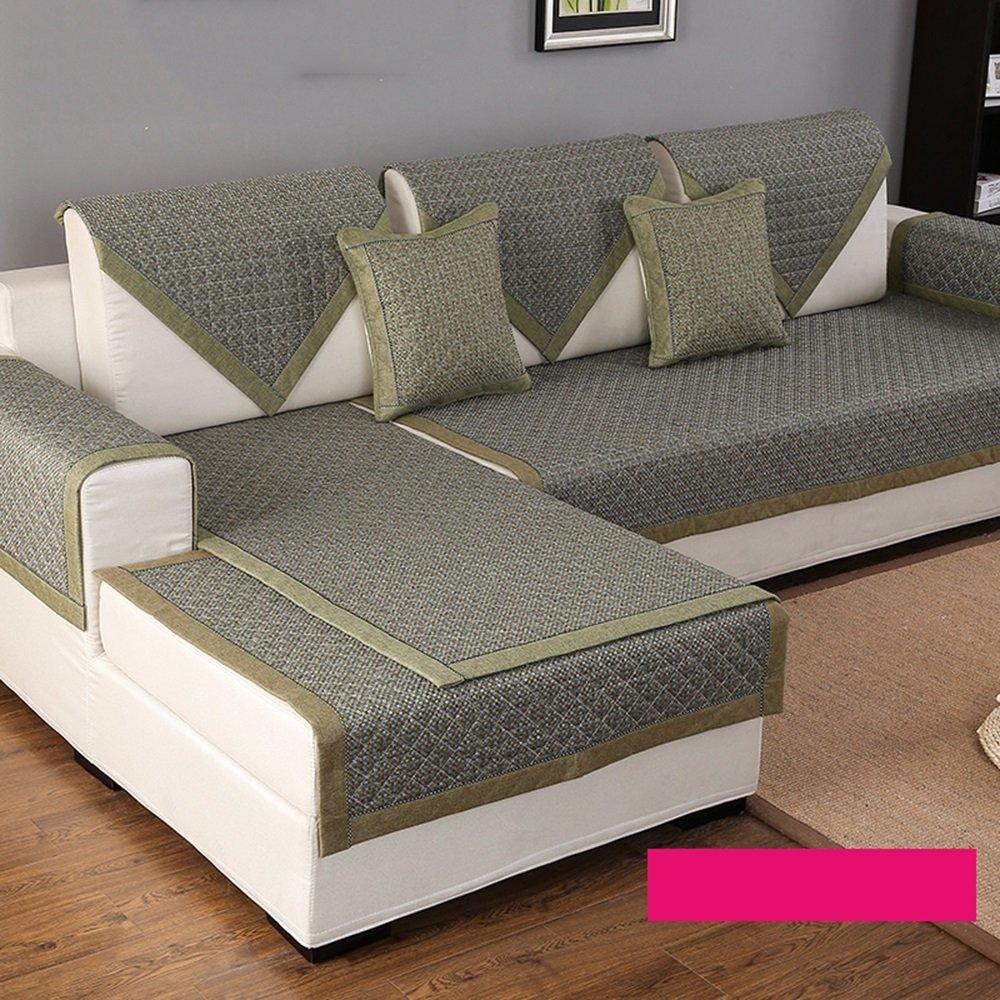 Biqin布のソファのクッション、綿のリネン四季のリビングルームはクッションを設定し、シンプルでモダンな包括的なアンチスキッドクッション ( サイズ さいず : 110*240cm ) 110*240cm  B077X5Z2W2