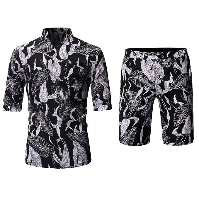 Amazon.com: Camisas para hombre con estampado de botones y ...