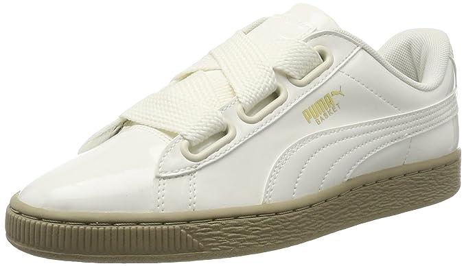 free shipping 3c6fa a3f6f Amazon.com: Puma Basket Heart Patent Womens Sneakers Natural ...