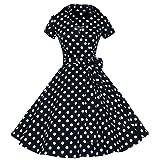 IZHH Women Fashion Vintage Dress 50S 60S Swing