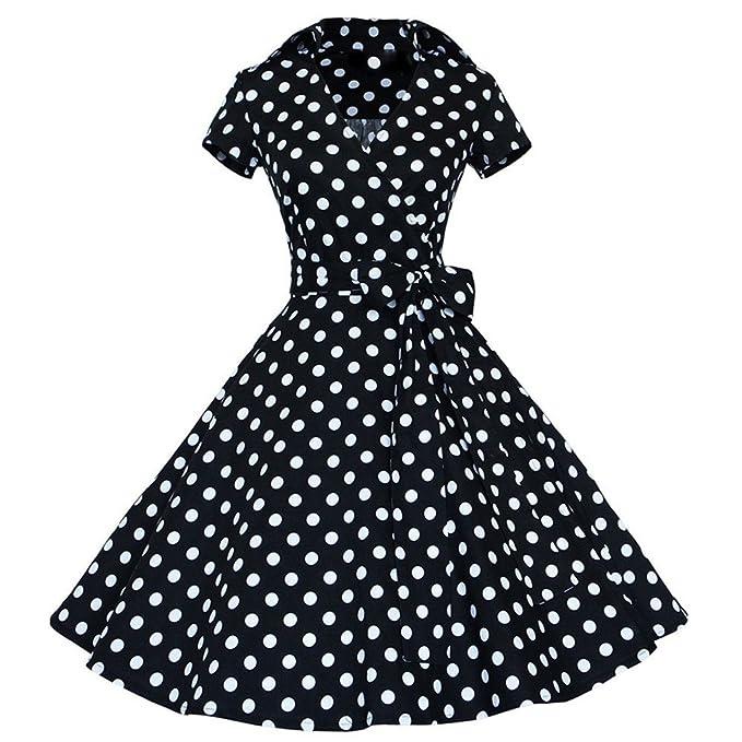 fea79e556 BaZhaHei Vestidos de Mujer Falda Mujeres Vestido de Fiesta 50S 60S ...