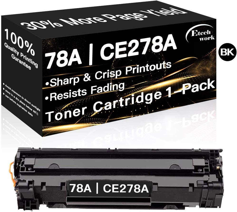 Compatible CE278A Printer Toner Cartridge 78A Used for HP Laserjet Pro M1536dnf P1606dn P1606n P1566 M1537dnf M1538dnf M1539dnf (1-Pack Black), Sold by Etechwork