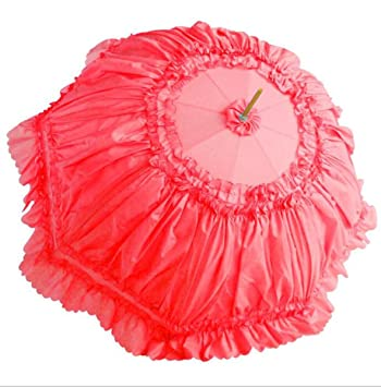 Hzhy Paraguas de Encaje para Mujer Paraguas Coreano Dulce de Encaje Paraguas de Paraguas Largo Lluvia