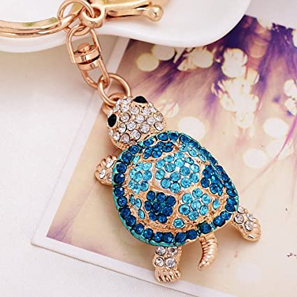 4a755d96d7 Image Unavailable. Image not available for. Color: Womens Metal Crystal  Turtle Keychain Jewelry Fashion Tortoise ...