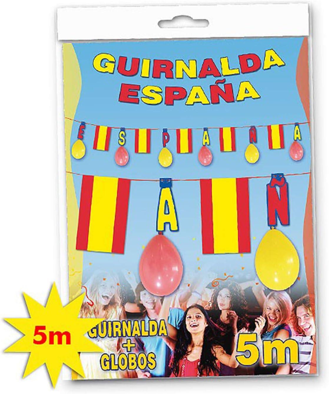 Acan Globolandia - Guirnalda España + 8 Globos 5 m: Amazon.es: Hogar