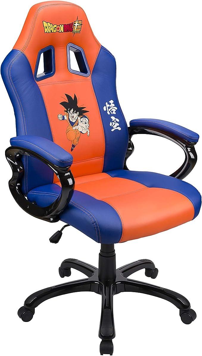 Subsonic - Asiento de juego Sillón Gamer ergonómico, Silla gaming giratoria de oficina, con Licencia oficial DBZ Dragon Ball Super San Goku, Naranja y Azul (PS4): Amazon.es: Videojuegos