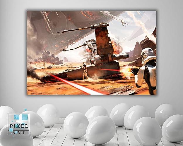 Amazoncom Star Wars Xwing Movie Canvas Print Wall Hanging