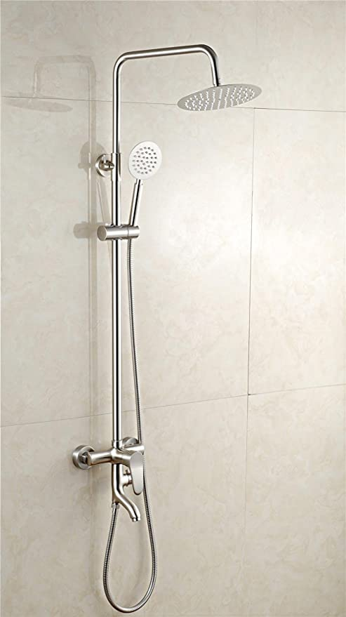 BY-De cobre trefilado tres ducha ajustable ducha paquete, Turbo grifo de la ducha