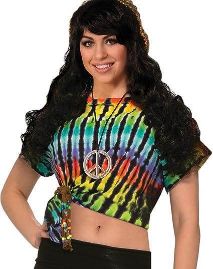 Forum Novelties Womens Hippie Costume Peace Sign Tank Top