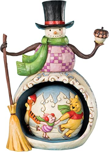 Jim Shore Snowman With Pooh – Winter In The 100 Acre Wood