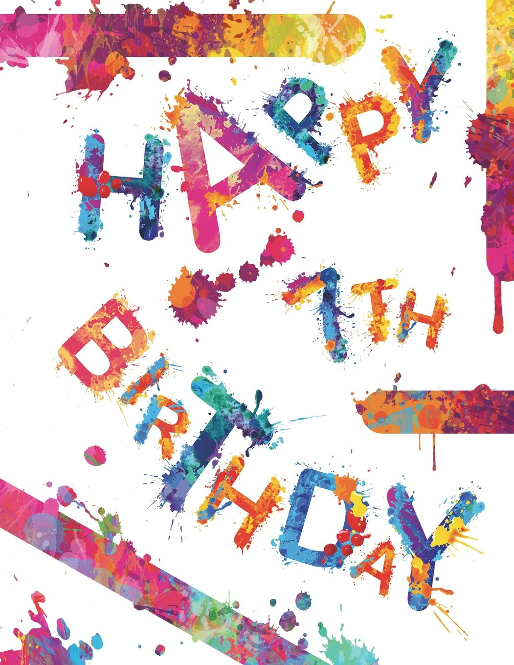 """Happy 7th Birthday: Fun Book to Use as School Notebook, Personal Journal, Personal Diary...105 Lined Pages, Birthday Gifts or Presents for 7 Year Old ... Grandson, Best Friend, Book Size 8 1/2"""" x 11"""" PDF"""